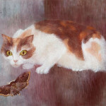 Cat with Moth (1951)