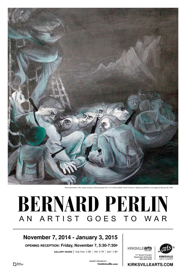 Bernard Perlin: An Artist Goes to War at Kirksville Arts Center