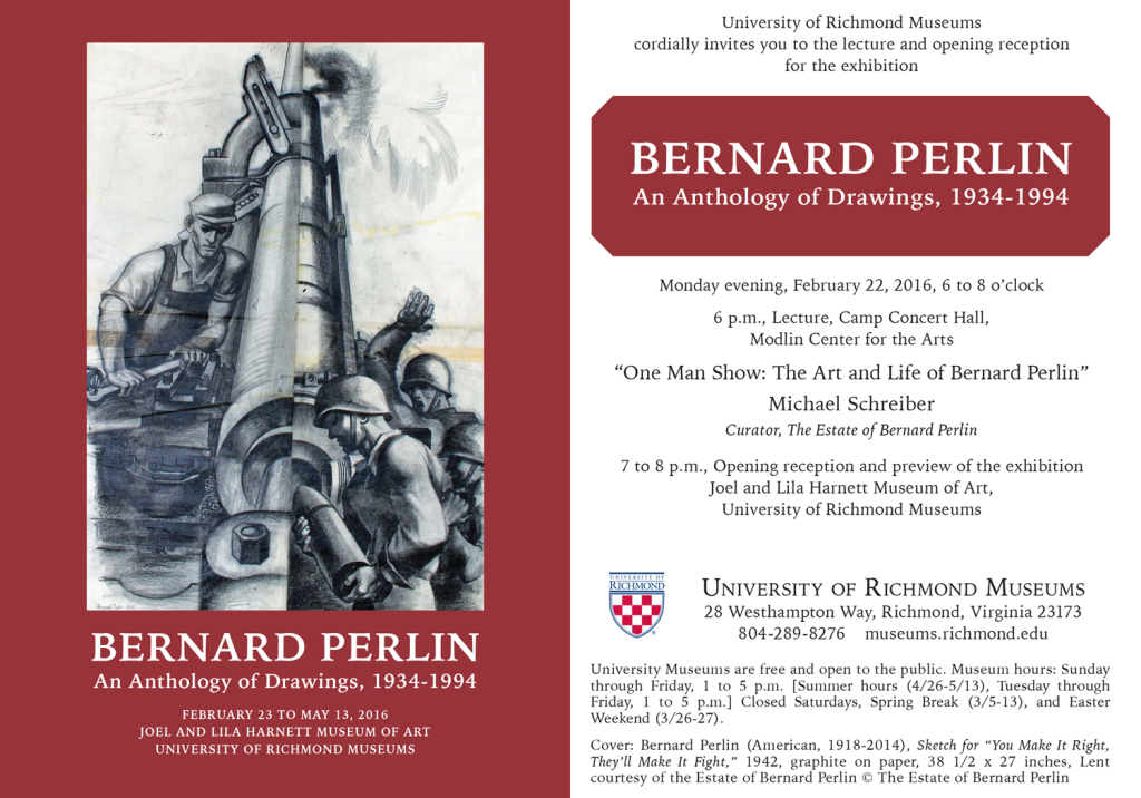 Bernard Perlin at University of Richmond Museums